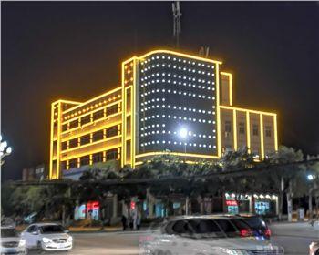中国电信渭南分公司生产楼楼体亮化